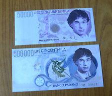 LOTTO 2 BANCONOTE BANCA NORD NAZIONE LIRE 50000 500000 1997 SUBALPINA