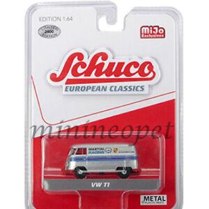 SCHUCO-8400-EUROPEAN-CLASSICS-VW-VOLKSWAGEN-T1-VAN-1-64-MARTINI-RACING-SILVER