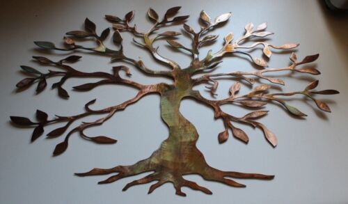 "Olive Tree Wide /& Short Version Tree of Life Metal Wall Art Decor 22 3//4/"" x 36/"""