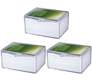 NEW 3-PACK Ultra Pro 100 Count Hinged Card Storage Box Case Sports Magic 43005