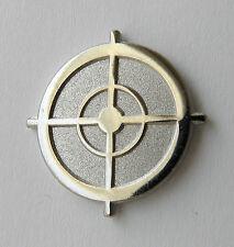 Sniper Scope Sight Silver Rifle Gun Weapon Lapel Hat Pin 1 inch