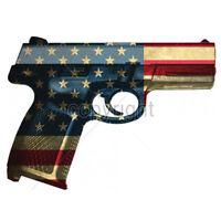 American Flag We The People Hand Gun USA Patriotic 2nd Amendment T-Shirt Tee