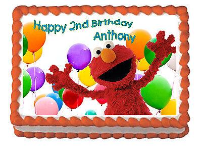 Elmo Birthday Child Premium Frosting Sheet Cake Topper FREE Personalization