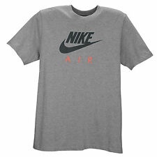 NIKE Air Logo T-Shirt sz S Small Heather Grey Pink Roshe Huarache 90 95 Flyknit