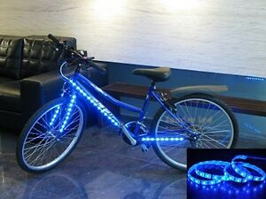 Bike bicycle led strip 1m 3ft blue lightbattery box to bike car image is loading bike bicycle led strip 1m 3ft blue light aloadofball Image collections