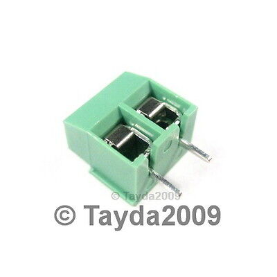 5 x DG126 Screw Terminal Block 2 Positions 5mm - FREE SHIPPING