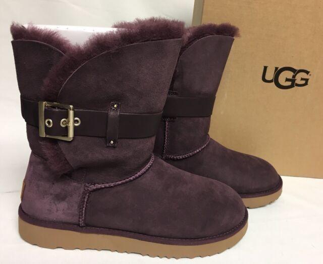 717f507f0f4 UGG Australia 1018628 Port 12 Women Jaylyn Classic Short Sheepskin Boot  Purple