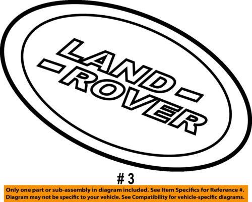 LAND ROVER OEM Range Rover Sport Grille Grill-Emblem Badge Nameplate DAG500160