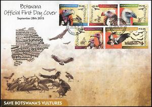 Botswana-2015-Vogel-Geier-Mint-Ersttagsbrief