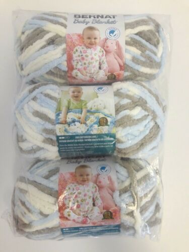 You Choose Color New Free Shipping 3 x Bernat Baby Blanket Yarns 3.5 oz