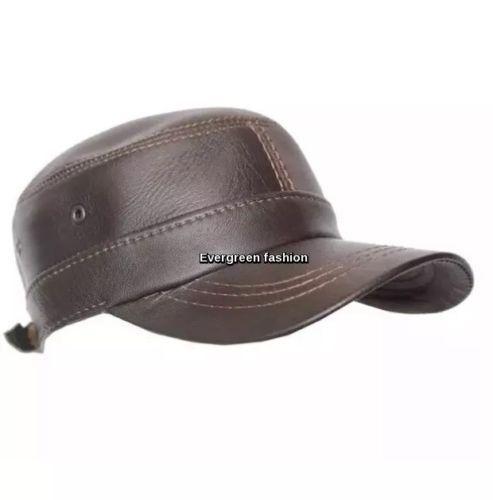 Para Hombre Marrón Castro Clásico Ivy GATSBY NEWSBOY buena Lookin Real Piel de cordero Sombrero Plano