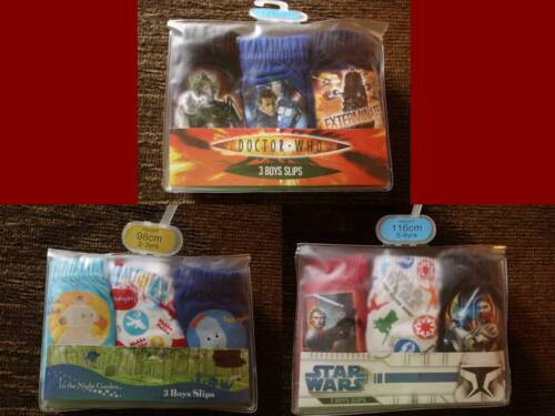 5-6 Boys 3 Pack Underwear 2-3 7-8 Years Doctor Who Iggle Piggle