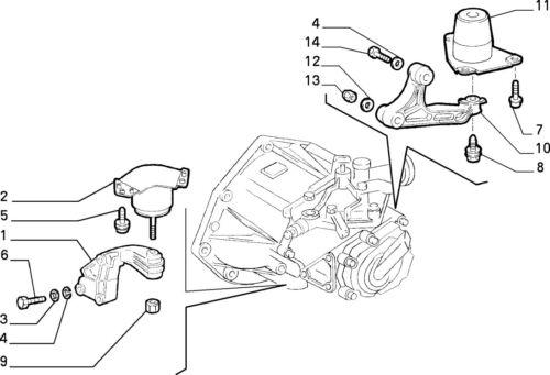 FIAT PUNTO 55 60 75 1993-1999 ENGINE MOUNT OE 7765891
