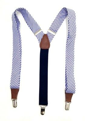 $75 CLUB ROOM Men/'s GRAY DRESS CLIP END 35MM WIDTH BRACES ADJUSTABLE SUSPENDERS