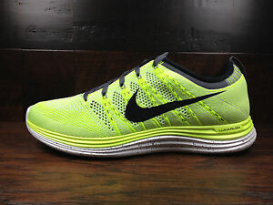 3fe7732bb709 Nike Flyknit One+ (Volt Black White) Running  554887-705  Mens Sz 9 ...