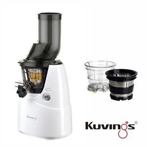Kuvings-Whole-Slow-Presse-Agrumes-B6000W-Blanc-Creme-Glacee-amp-Smoothies-Kit