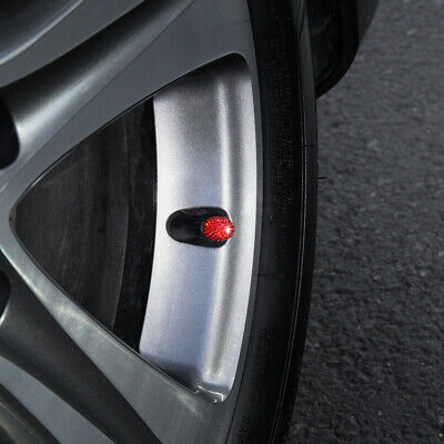 WINKA Set of 4 Rhinestone Tire Valve Stem Caps Bling Car Accessory Compatible with Universal Wheel Air Stem Valve Black