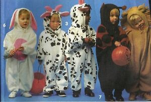 Simplicity Pattern 8582 Costumes Ladybug, Lion, Cow, Toddler Size 1/2-4 Pre-Cut