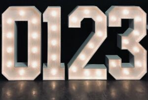 Any 4ft Large Letters Numbers 123 Abc Free Standing With Lighting Ebay