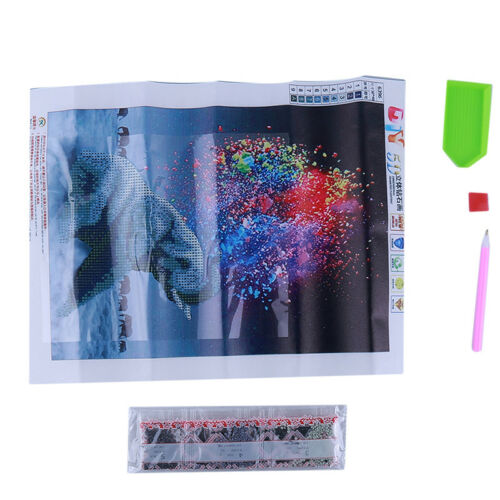 DIY 5D Diamond Painting Embroidery Animal Painting Elephant Cross Stitch LH