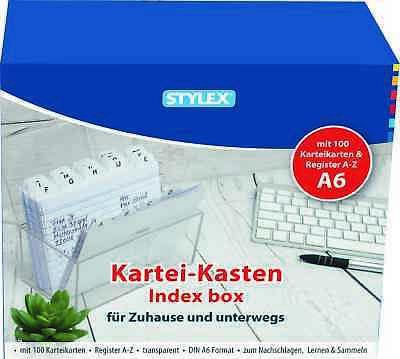 Ordnen Kartei Kasten A7 Karteibox Karteiordner Registerkasten Kasten Ablage!
