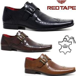 f298ce3c7e15 Mens Red Tape Leather Shoes Smart Office Wedding Work Formal Party ...