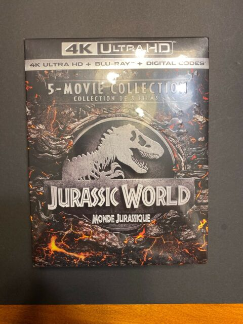 Jurassic world: 5-movie collection (4K Ultra HD+blu-ray+Digital Codes, 2019)