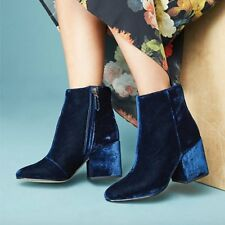 00cda4f7c Sam Edelman Womens Taye Velvet Block Heel BOOTIES Inky Navy 9 for ...