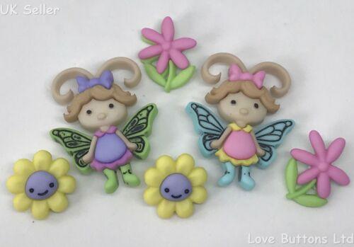 "Dress It Up /""Flutter errores de botones 8294 Flores Insectos Hadas Mariposa"