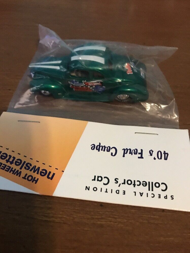 Hot Wheels Newsletter 4th Annual Convention 40 40 40 Ford Coupe Collectors Car Green 1f0671