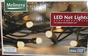16-M-160-DEL-8-Fonction-Cool-Net-Lights-vert-cables-Parti-Arbre-de-Noel