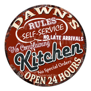 CWKR-0105-DAWN-039-S-KITCHEN-Funny-Rules-Tin-Sign-Mother-039-s-day-Gift-For-Woman