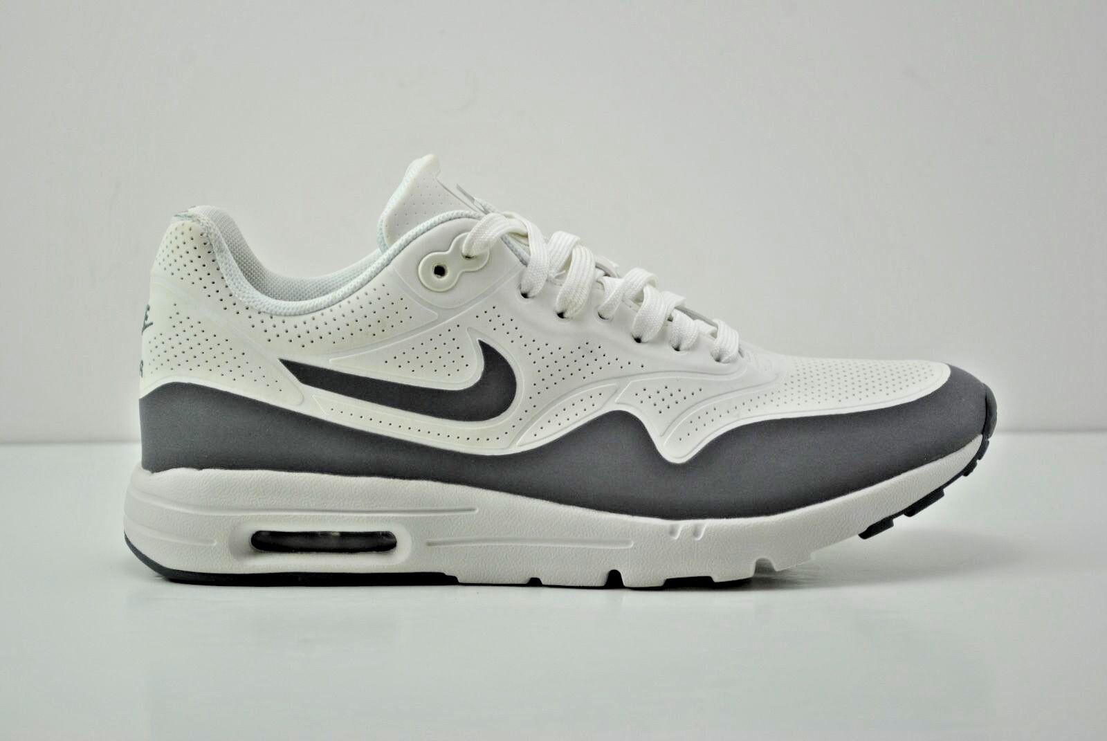 Womens Nike Air Max 1 Ultra Moire Running Shoes Size 7.5 White Grey 704995 101