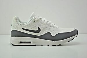 Details about Womens Nike Air Max 1 Ultra Moire Running Shoes Size 7.5 White Grey 704995 101