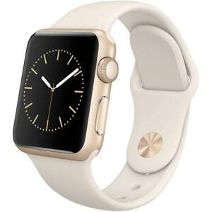 23bc230effd Apple Watch Series 2 - 38mm - Gold Aluminum Case - White Sport Band ...