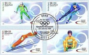 BRD-2002-Sporthilfemarken-Nr-2237-2240-mit-Bonner-Ersttagsstempel-1A-1809