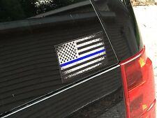 Thin blue line decal sticker flag sticker police blue lives matter window stick