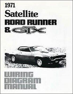 1971 Plymouth Gtx Road Runner Belvedere Satellite Wiring Diagrams Manual New Ebay