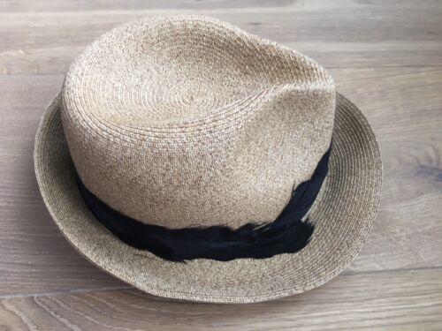 Cappello New Bnwt325 Beige Eugenia Esaurita Maxyo Kim Piuma Nera di Toyo Fedora 8XnOw0Pk
