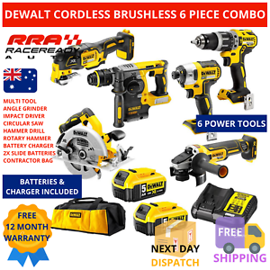 New Cordless Power Tools Combo Kit Set Lithium-Ion Drill Impact Driver Saw 6pc