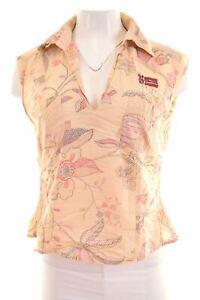 NAPAPIJRI-Womens-Polo-Shirt-Sleeveless-Size-16-Large-Multicoloured-Cotton-NH06