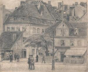JULIUS ROSENBAUM Pencil Drawing GERMAN STREET SCENE c1911 GERMAN EXPRESSIONISM - <span itemprop=availableAtOrFrom>England, United Kingdom</span> - In the rare event there is a problem with one of my items I am more than happy to have it returned for a full refund but please contact me immediately you open the package. Most purchases - England, United Kingdom