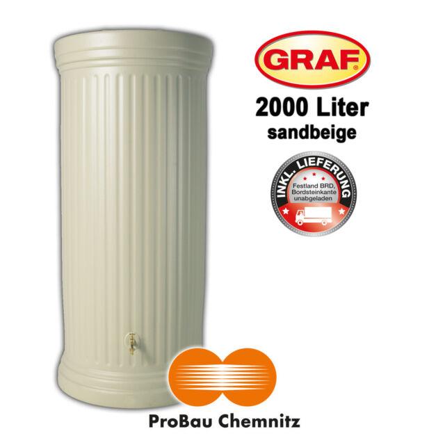 Garten Regenwasser NEU Lieferung inkl Graf Säulentank 330 Liter sandbeige