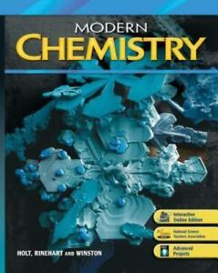 Modern Chemistry: Holt Modern Chemistry by Holt Rinehart Winston (2009,  Hardcover, Student Edition of Textbook)