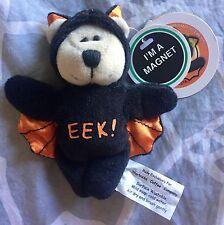 NWT STARBUCKS BEARISTA MAGNET BEAR 2003 EEK! BAT HALLOWEEN MINI HOLIDAY
