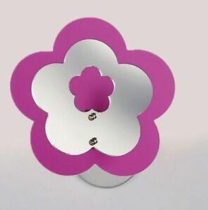 Lampadario in plexiglass da parete applique fiore vari colori cameretta bambina ebay - Colori parete cameretta ...
