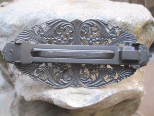 Viktorianisch Filigran Silber Plattiert über Messing Französischer Clip
