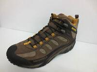 Mens Merrell Waterproof Suede Stone Walking Boot Style -refuge Core Mid