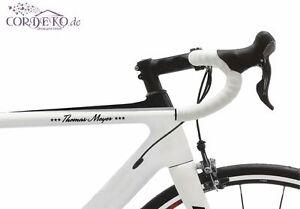 Doux Texte/nom + étoiles Vélo Autocollant 60 Polices Bike Film Autocollant-er 60 Schriftarten Bike Folie Aufkleber Fr-fr Afficher Le Titre D'origine AgréAble En ArrièRe-GoûT