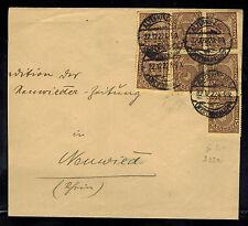 1922 Alternkircher Germany Inflation cover to Neuwieder Zeitung